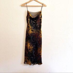 Melinda Slinky Velvet Midi Dress